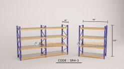 Longspan Shelving SR-4-3