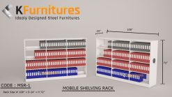 Sizes can be customized according to client requirement, Mobile Shelving Rack